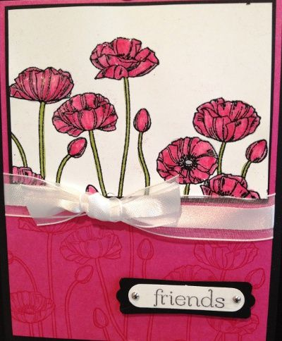 Handmade card using Pleasant Poppies stamp from Stampin' Up!