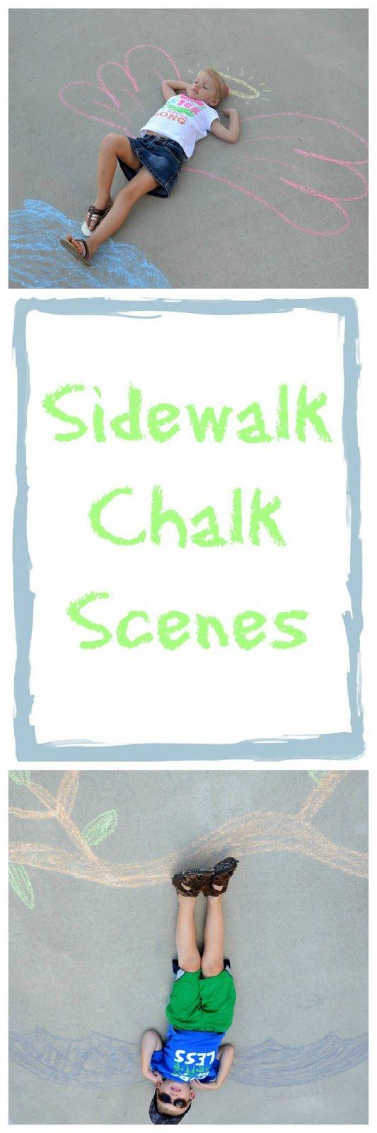 In Lieu of Preschool: Sidewalk Chalk Scenes!
