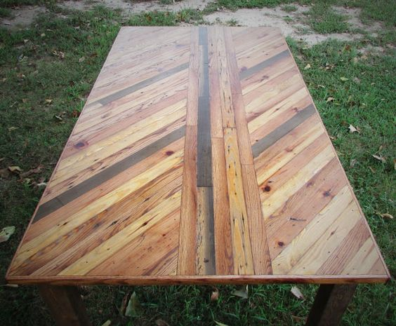 FREE SHIPPING Handmade Wood Lath Table Rustic by SereneVillage