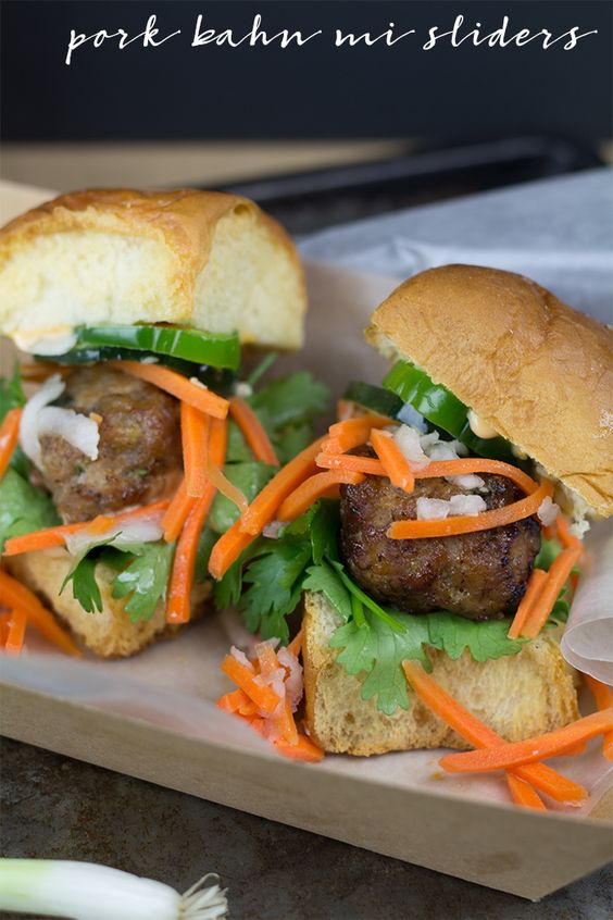 Pork Bahn Mi Sliders
