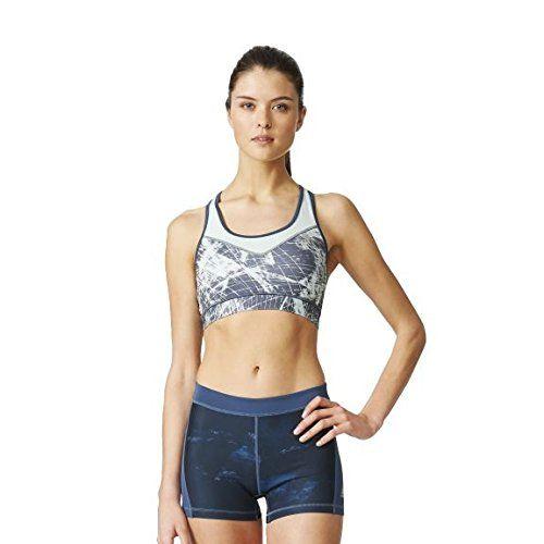 adidas Damen Sport BH Techfit Bra Utility Blue/Print/Matte ...