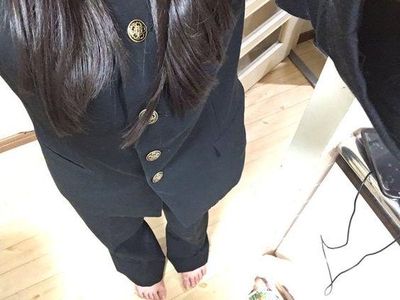 """まどかさんはTwitterを使っています: """"昨日北嵯峨の制服着て遊んだあと学ラン着た〜✨ あこがれの学ランきれてうれしい https://t.co/ViGee7WiaX"""""""