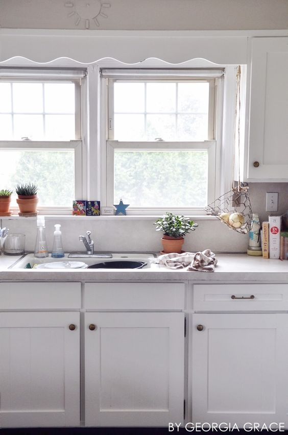 Pewter lace and benjamin moore on pinterest for Benjamin moore chantilly lace kitchen cabinets