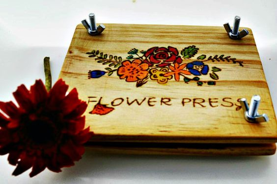Personalized Flower press kit - wooden flower press - handmade maple - spring gift -botanical press - botany - flower art - pressing flowers