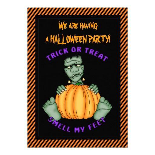Halloween kids cartoon party Invitation