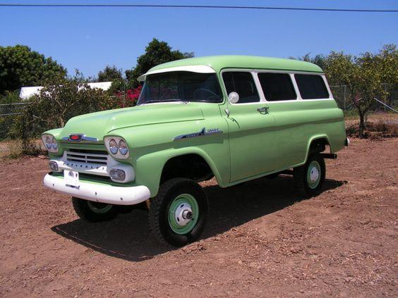 1958 Chevrolet 3100 Napco Carryall Chevrolet Chevrolet 3100 Trucks