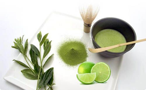 Giảm cân bằng bột trà xanh