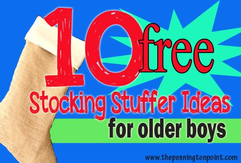 10 FREE Stocking Stuffers for Older Boys