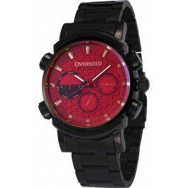 Relógio Masculino Esportivo Oversized Knockout 45mm (Dark+Red)