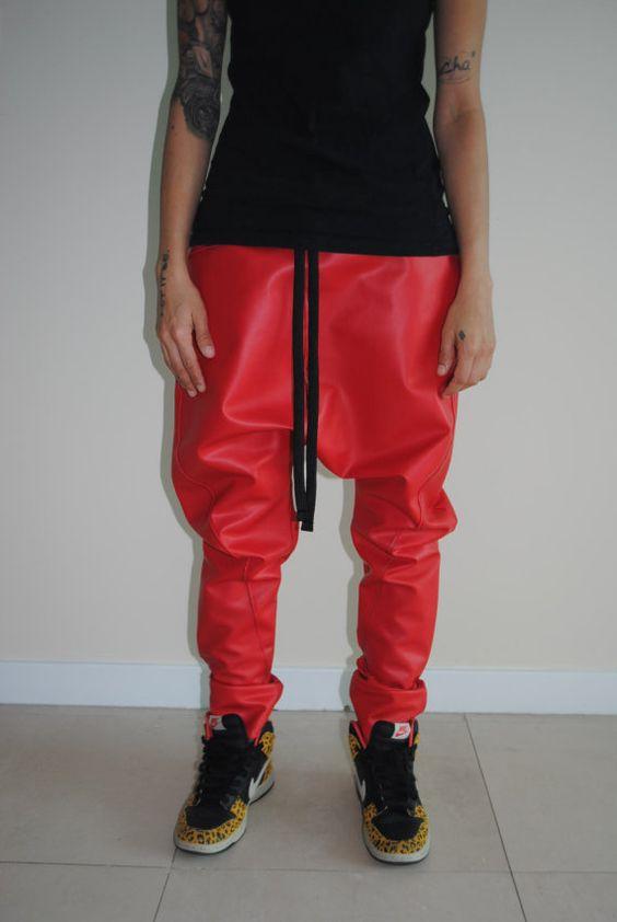 leather harem pants men - photo #39