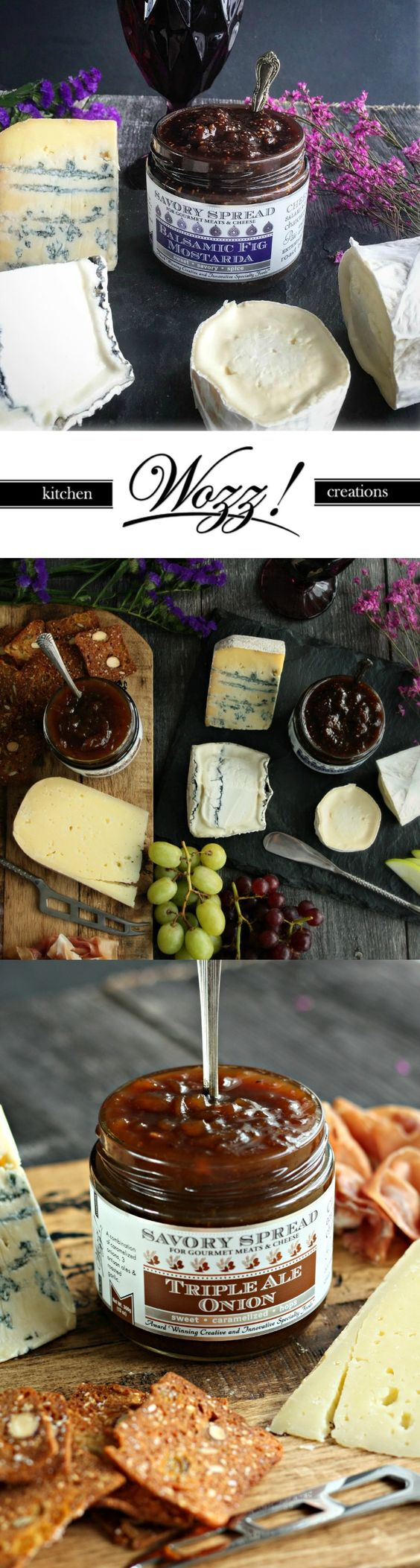 Wozz ultimate condiment and cheese pairing guide for easy yet elegant entertaining.  Small batch handcrafted condiments ideal for a beautiful cheese plate!: