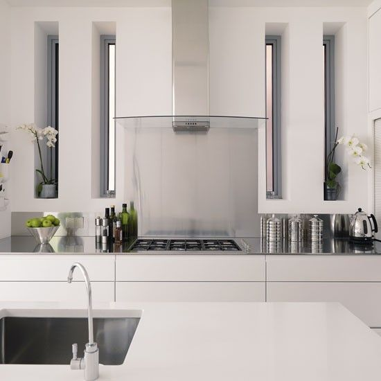 White Kitchen Extractor Hood be inspireda white minimalist kitchen | kitchen photos