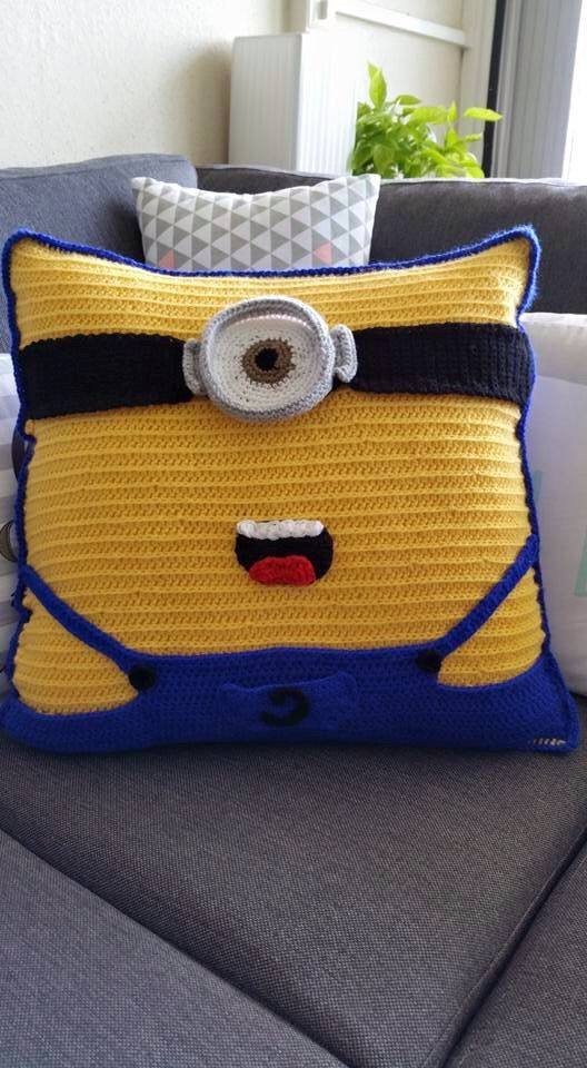 Free Minion Cushion Crochet Pattern : Minions, Crochet cushion pattern and Minion crochet on ...