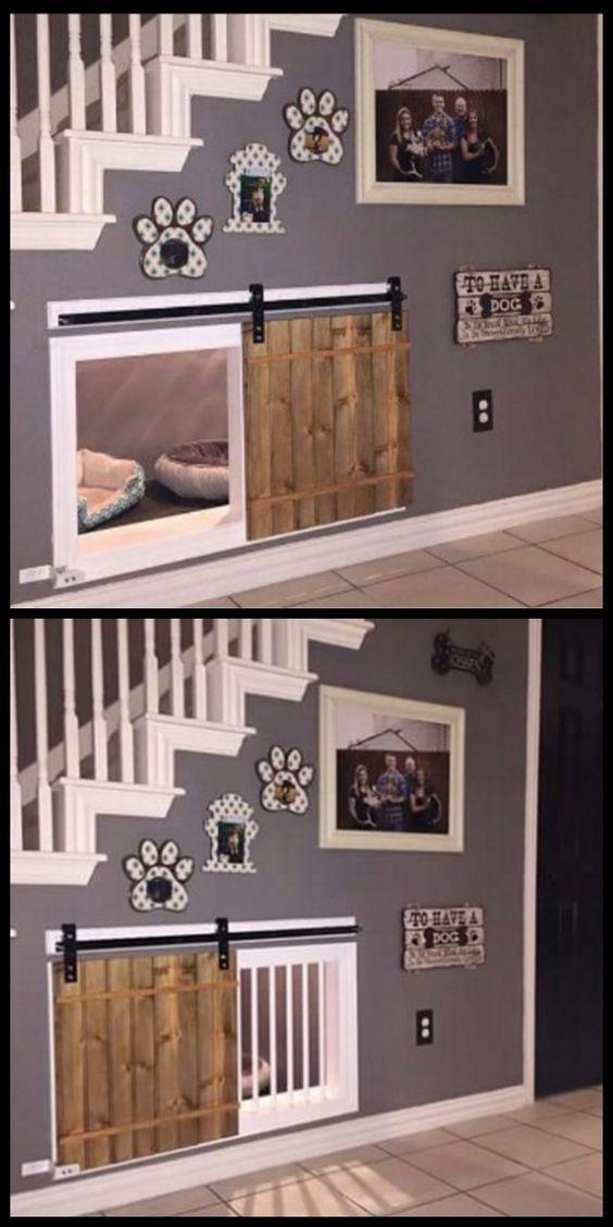 Cajón del perro cachorro Cama Jaula Casa Perrera corralito Hágalo usted mismo kit Para Bajo Escaleras Espacio