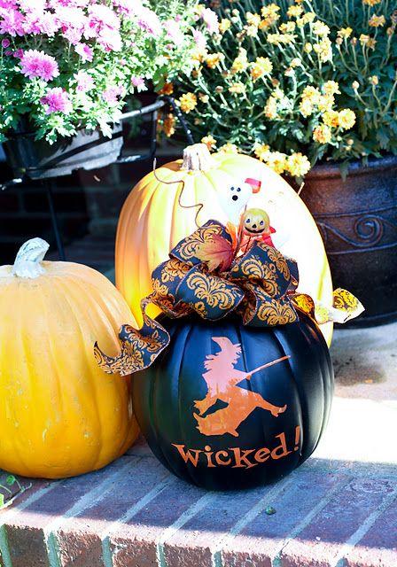 wicked witch pumpkin