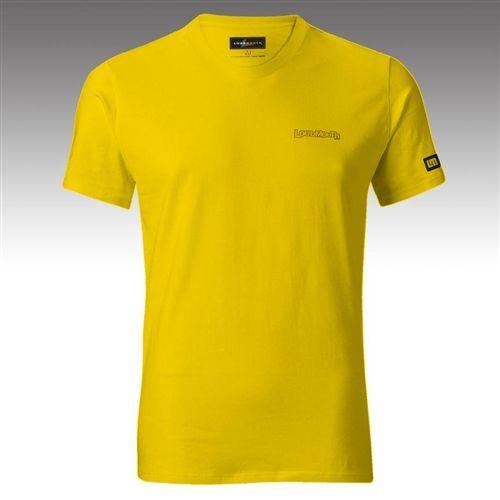 Mens T Shirts By Loudmouth Golf Lemon Chrome Tech Casual