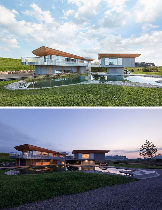 Archiemons • This house is designed to be a showcase for wood home construction