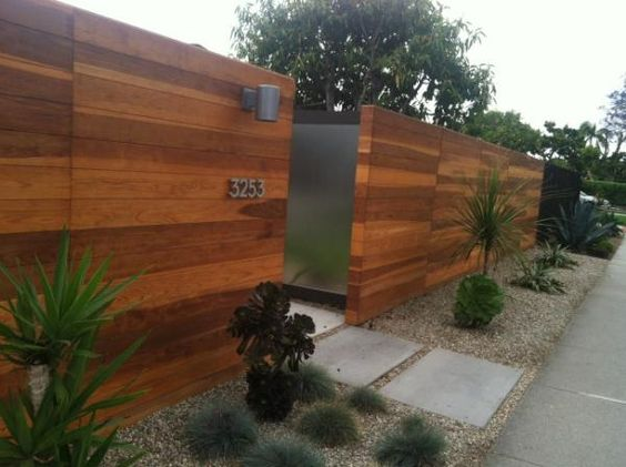 great fence outdoor ideas pinterest felsen modern. Black Bedroom Furniture Sets. Home Design Ideas