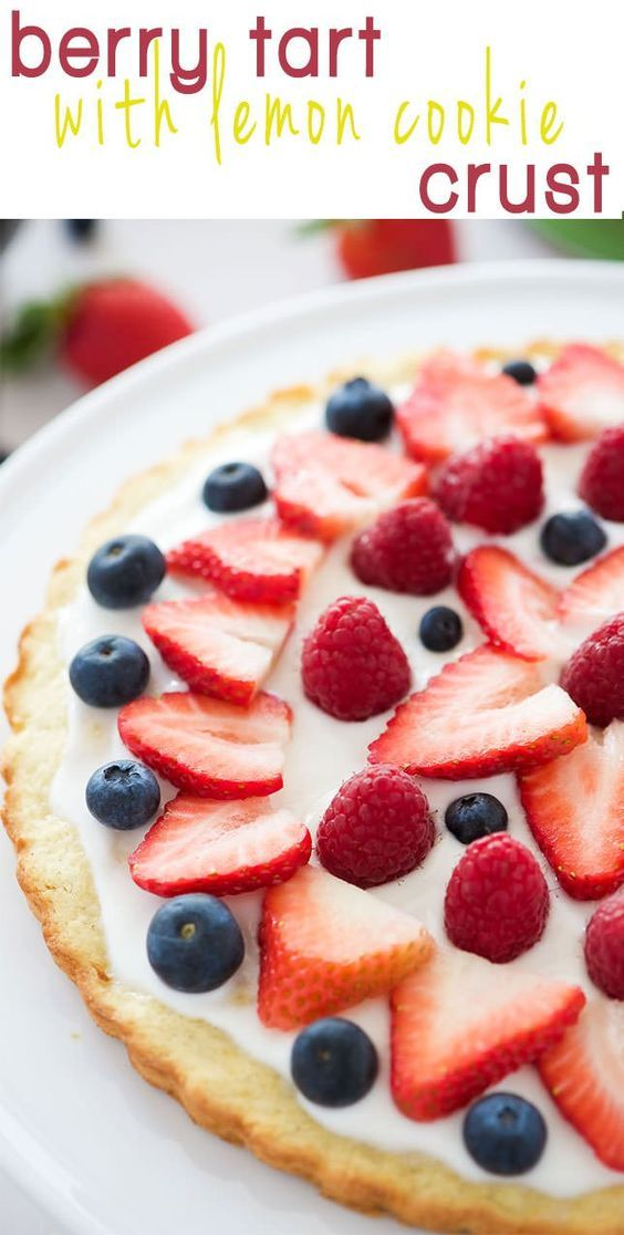This Berry Tart with Lemon Cookie Crust has made all my spring dessert ...