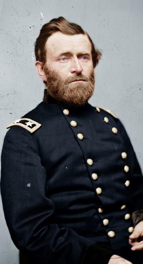 Civil War General and President Ulysses S. Grant in Color...  Original Photo in B.
