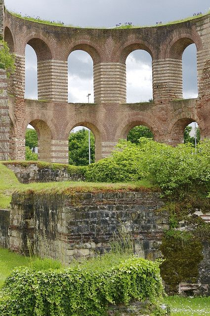 The Imperial Baths in Trier, Germany