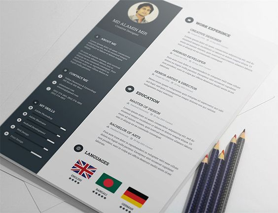 free resume template by alamin mir   how to   pinterest    free resume template by alamin mir
