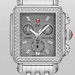 Deco Diamond, Grey Diamond Dial Watch