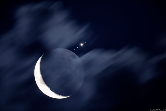 Moon Meets Jupiter   Image Credit & Copyright: Cristian Fattinnanzi
