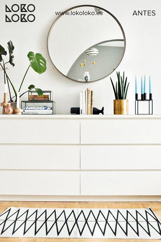 Antes y después IKEA hacks con vinilo ¡Renovando el conocido