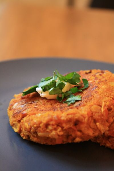 squash and sweet potato patties