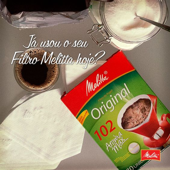 Pra passar o seu café preferido, filtro tem que ser Melitta! <3