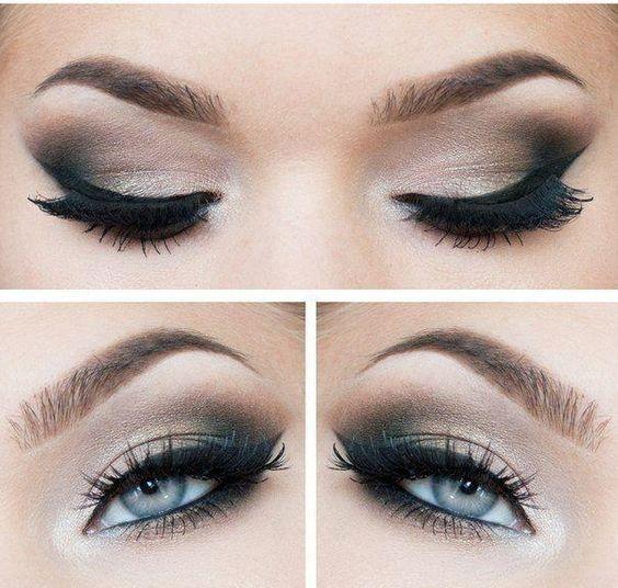 Herbst inspiriertes Makeup in Bronze Nuancen für blaue Augen