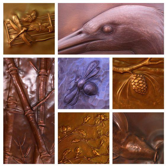 Copper Repousse Artist Laurie C Design Pinterest
