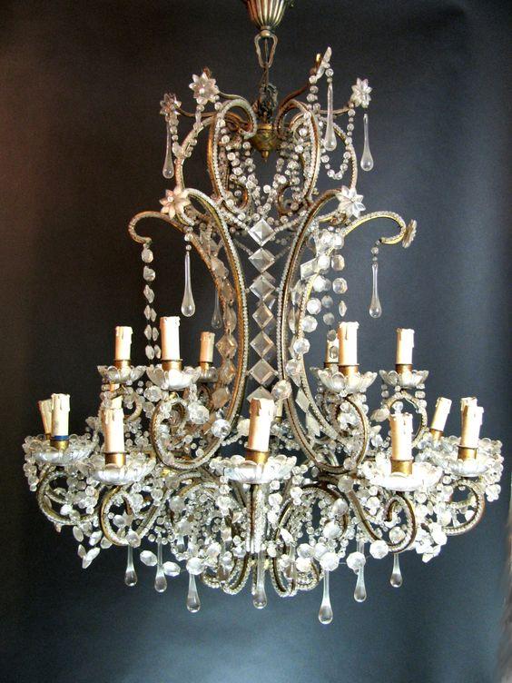 lampadari boemia : ... Antico in Cristallo di Bohemia 18 Luci - Epoca: Fine XIX secolo