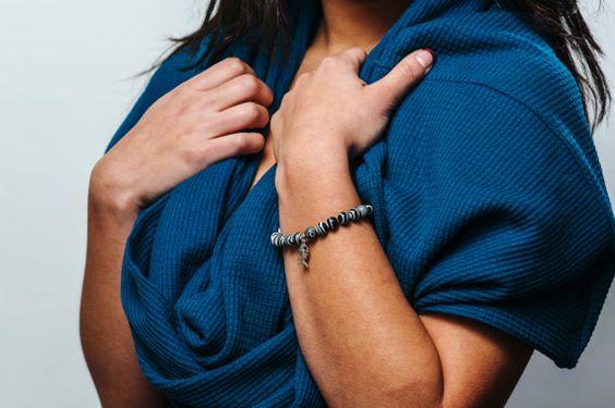 Infinity Circle Loop Tube Blue Teal Scarf by DiscoLemonadeDesigns, $22.00