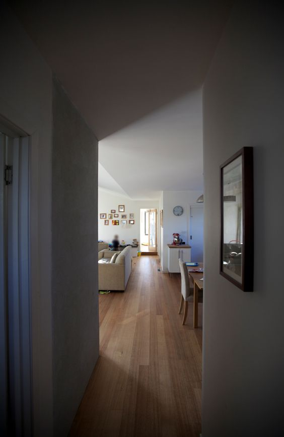 Hall to Living. Cygnet Residence. Design & Build. (New House) 2011.