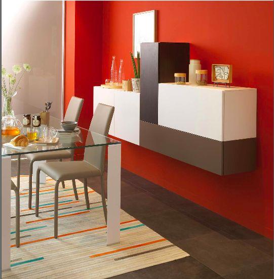 des meubles suspendus pour un effet a rien et un camaieu. Black Bedroom Furniture Sets. Home Design Ideas