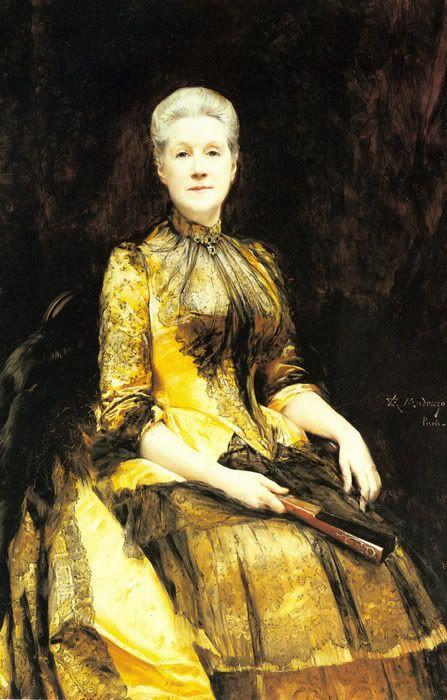 Painting of Woman by Spanish Artist Raimundo de Madrazo y Garreta. A Portrait of Mrs. James Leigh Coleman