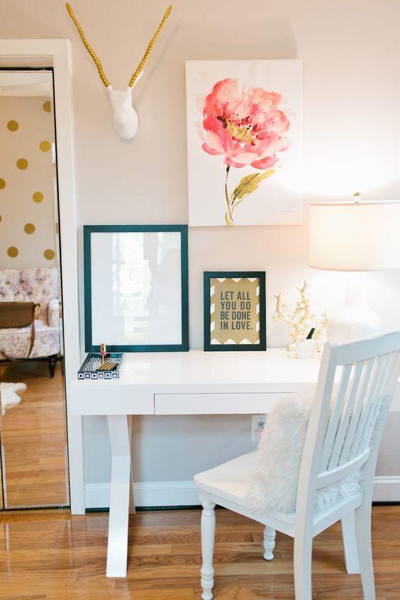 Rosa Akzente, Blume and Büros on Pinterest