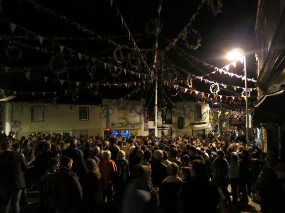 Night singing Padstow May eve.