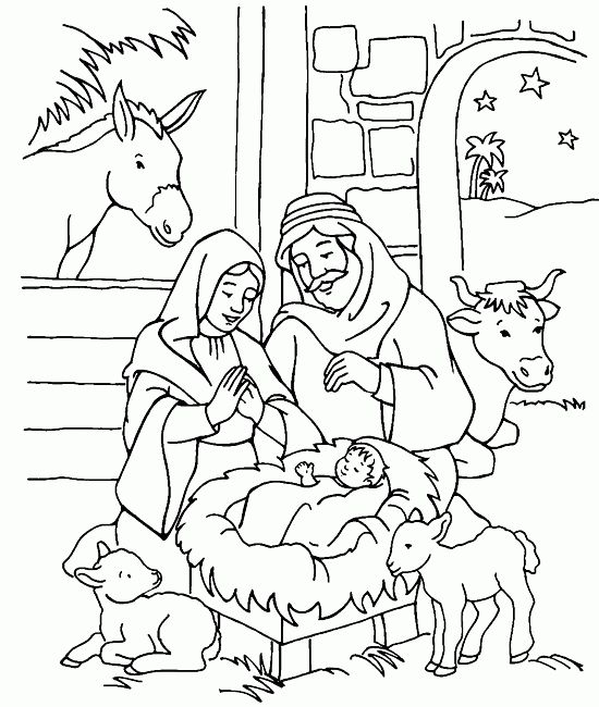 Jesus Birth Coloring Page Nativity Coloring Pages Jesus