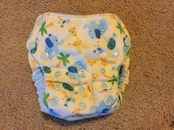 AI2 Small-Medium cloth diaper With 2 Soakers by BundledBundies on Etsy