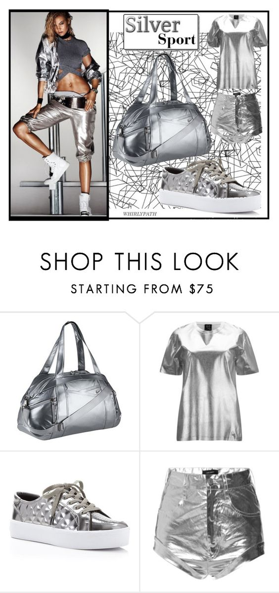 """""""Silver Sport!"""" by whirlypath ❤ liked on Polyvore featuring COVERGIRL, NIKE, McQ by Alexander McQueen, Rebecca Minkoff, Isabel Marant, women's clothing, women, female, woman and misses"""