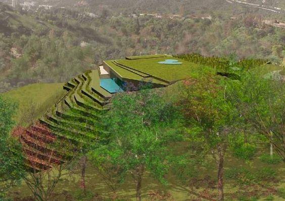 House Built Into A Hill California Earth Cave Hobbit