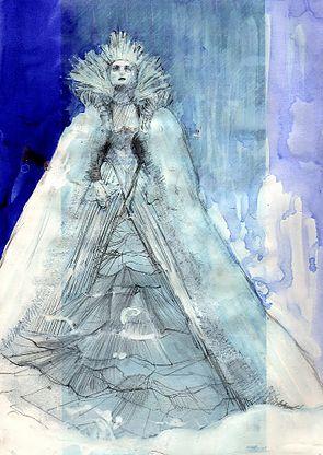 Léa Germain scénographie et décor de cinéma   Reine des neiges