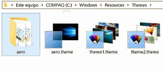 Personalizar los temas de Windows 10