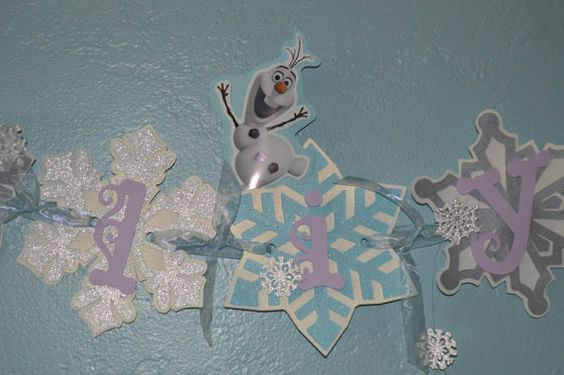 Frozen Name banner by CCreativeMind on Etsy, $12.00