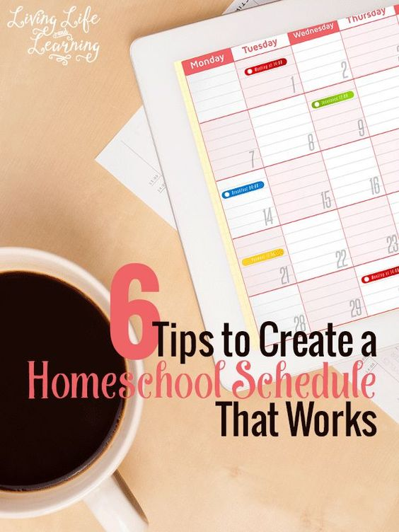 Need help getting your homeschool organized and your children set in a routine? These 6 tips to create a homeschool schedule that works will enlighten your homeschool days.