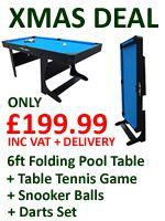 Riley Vertically Folding 6ft Pool Table   PT20-6DPlus