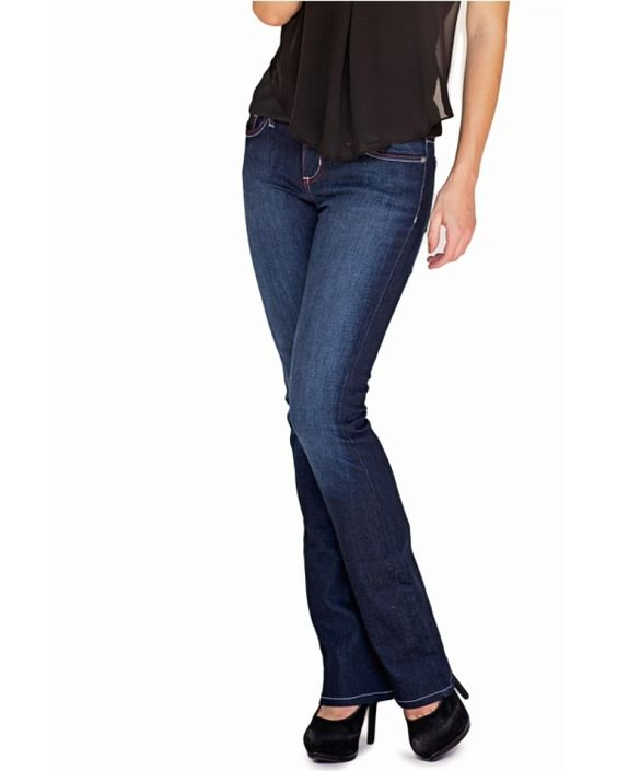 Bullet Blues Babe Audace - Dark Blue Boot Cut Jean Made in USA ...